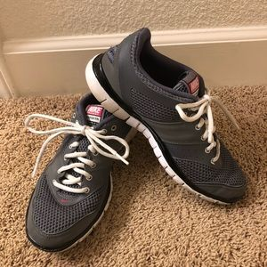 Nike Free grey with pink women's training shoes